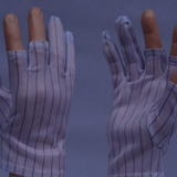 Anti-static gloves with broken fingers (true conductive wire)