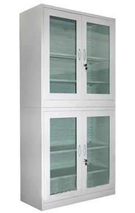 Double Glass File Cabinet