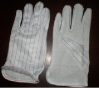 Cotton and wool dotted anti-static gloves (ordinary)