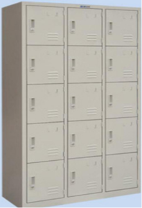 Fifteen door locker