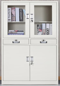 Upper Glass Small Open Door File Cabinet